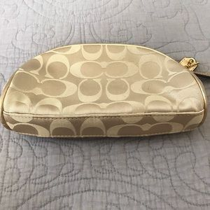 Coach Bags - Coach Makeup Cosmetic Pouch Bag Gold